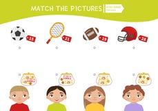Caçoa o jogo educacional ilustração stock