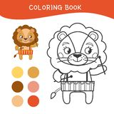 Caçoa o livro para colorir ilustração do vetor