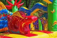 Caçoa o trampolim inflável Foto de Stock Royalty Free