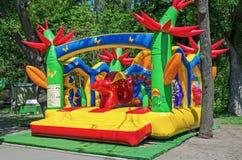 Caçoa o trampolim inflável Fotografia de Stock Royalty Free