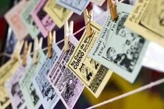 Caída brasileña de la literatura del cordel de un pedazo de secuencia foto de archivo libre de regalías