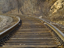 A caída da estrada de ferro imagens de stock royalty free