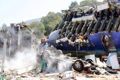 Caída de Airplaneâs Imagenes de archivo