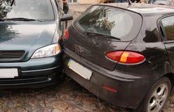 Caída de dos coches imagen de archivo