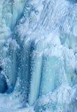 Caída de hielo en la barranca de Johnson fotos de archivo
