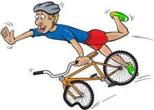 Caída de la bici Fotos de archivo libres de regalías