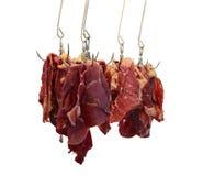 Caída de la carne de vaca con caída del hookBeef con el gancho Imagen de archivo libre de regalías