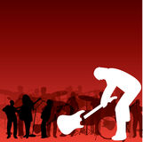 Caída de la guitarra Imagen de archivo libre de regalías