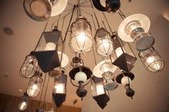 Caída de la lámpara en techo Imagen de archivo libre de regalías