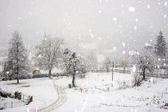 Caída de la nieve Imágenes de archivo libres de regalías