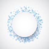 Caída de la nieve Fondo del tema del invierno del día de fiesta Imagen de archivo libre de regalías