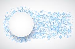 Caída de la nieve Fondo del tema del invierno del día de fiesta Fotografía de archivo libre de regalías