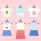 Caída de la ropa Foto de archivo libre de regalías
