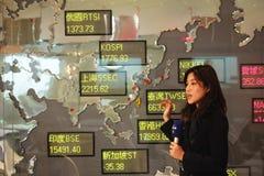 Caída de las existencias de Corea Foto de archivo libre de regalías