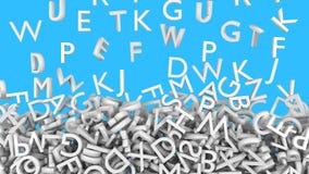 Caída de las letras del alfabeto Fotografía de archivo libre de regalías