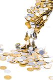Caída de las monedas foto de archivo libre de regalías
