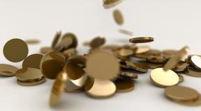 Caída de las monedas de oro Ilustración del Vector