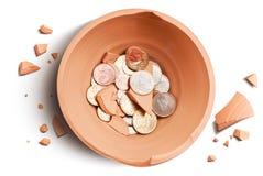Caída de Moneybox Fotografía de archivo