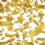 Caída de oro de la estrella Foto de archivo