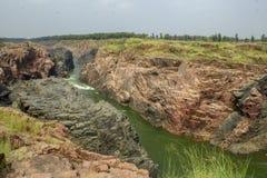 Caída de Raneh, Khajuraho imagenes de archivo