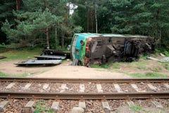Caída de tren Foto de archivo libre de regalías
