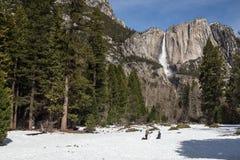 Caída de Yosemite en invierno Imagenes de archivo