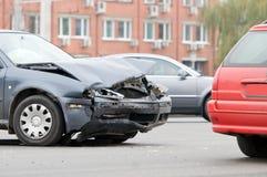 Caída del accidente de tráfico Fotografía de archivo