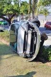 Caída del accidente de tráfico imagen de archivo libre de regalías