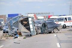 Caída del accidente de tráfico Fotografía de archivo libre de regalías