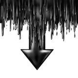 Caída del aceite Imágenes de archivo libres de regalías