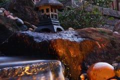 Caída del agua del jardín Foto de archivo