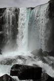 Caída del agua en Thingvellir Imagen de archivo libre de regalías