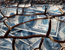 Caída del dólar Fotos de archivo
