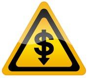 Caída del dólar en intercambio stock de ilustración