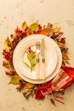 Caída del otoño o diseño de ajuste cambiante de la tabla de la acción de gracias Imagen de archivo libre de regalías