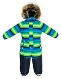 Caída del snowsuit de los niños Fotografía de archivo