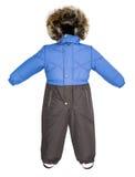 Caída del snowsuit de los niños Fotos de archivo