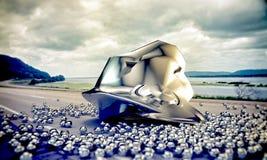 Caída del UFO Foto de archivo libre de regalías