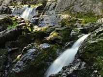 Caída doble del agua en Wisconsin septentrional Imagen de archivo libre de regalías