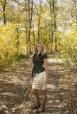 Caída en bosque Fotografía de archivo