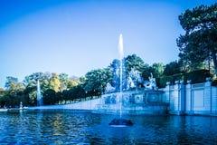 Caída en el jardín de Schönbrunn en Viena Imagen de archivo libre de regalías