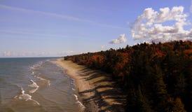 Caída en el lago Superior Imágenes de archivo libres de regalías