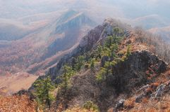 Caída en la cresta de Chandalaz Foto de archivo