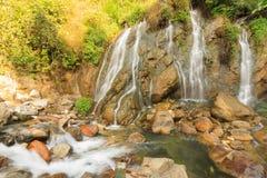 Caída hermosa del agua de Tien Sa en SAPA, Vietnam Imagenes de archivo