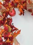 Caída o Autumn Border Vertical Imagenes de archivo