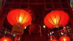 Caída roja de la linterna en techo Fotografía de archivo libre de regalías