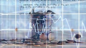 Caída y códigos de programa de las monedas ilustración del vector