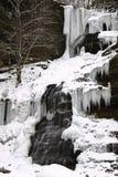 Caídas congeladas WV de la catedral de la cascada del invierno foto de archivo libre de regalías