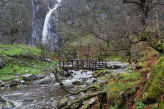Caídas de Aber, parque nacional de Snowdonia, País de Gales del norte Imagen de archivo libre de regalías