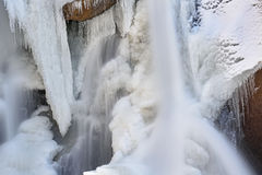 Caídas de Boulder del invierno Imagen de archivo libre de regalías